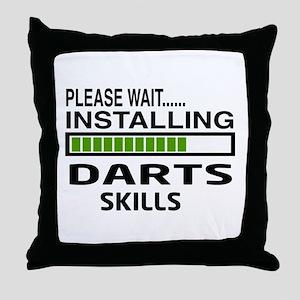 Please wait, Installing Darts Skills Throw Pillow