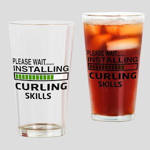 Please wait, Installing Curling Ski Drinking Glass
