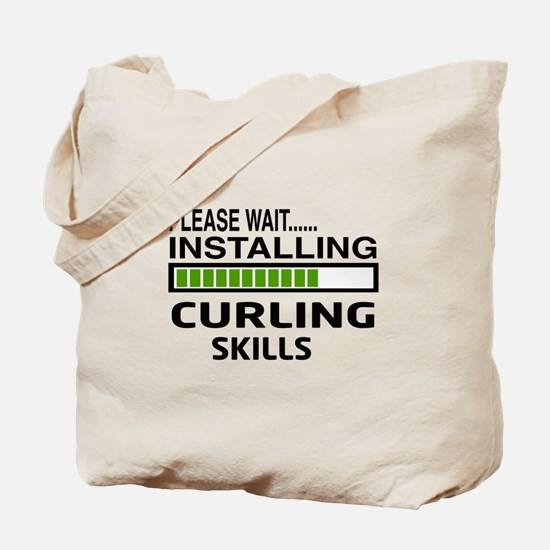 Please wait, Installing Curling Skills Tote Bag