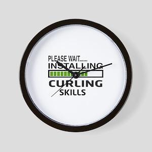Please wait, Installing Curling Skills Wall Clock