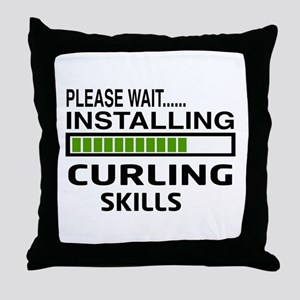 Please wait, Installing Curling Skill Throw Pillow