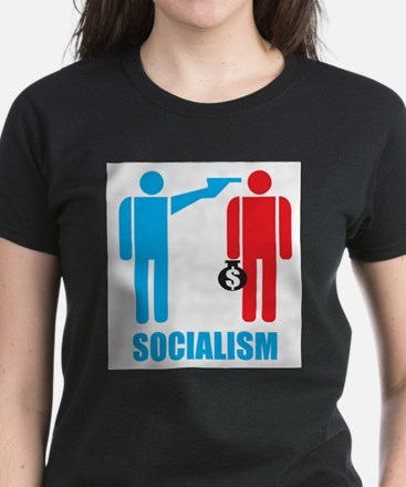 Socialism Logo On Light Color T Shirts T-Shirt