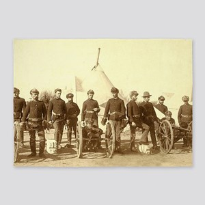 Civil War Soldiers 5'x7'Area Rug