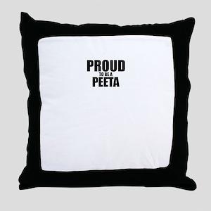 Proud to be PEETA Throw Pillow