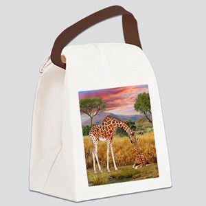 Tall Love From Above Canvas Lunch Bag