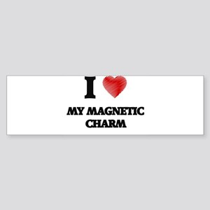 I Love My Magnetic Charm Bumper Sticker