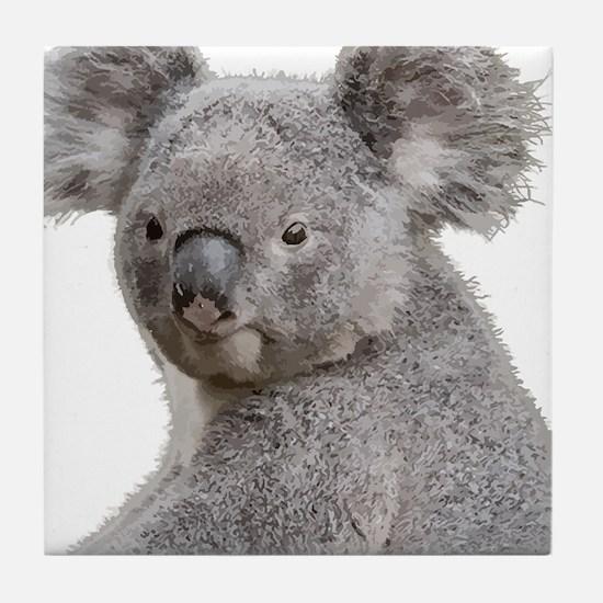 Cute Koala Bears smiling Tile Coaster
