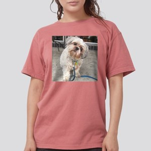 dog on leash at cafe T-Shirt