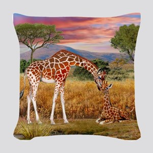 Tall Love From Above Woven Throw Pillow