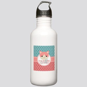 Teal Quatrefoil Patter Stainless Water Bottle 1.0L