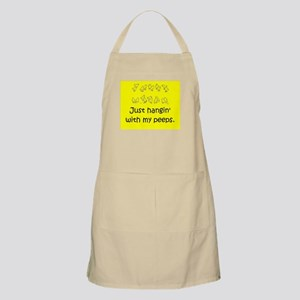 Just hangin' with my peeps Apron