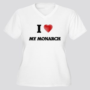 I Love My Monarch Plus Size T-Shirt