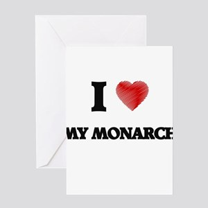I Love My Monarch Greeting Cards