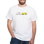 I Love Dump Trucks White T-Shirt