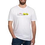 I Love Dump Trucks Fitted T-Shirt