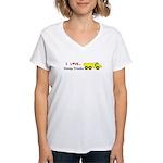 I Love Dump Trucks Women's V-Neck T-Shirt