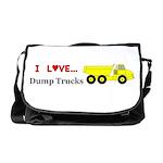 I Love Dump Trucks Messenger Bag