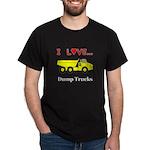 I Love Dump Trucks Dark T-Shirt