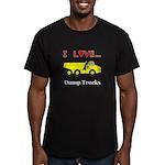 I Love Dump Trucks Men's Fitted T-Shirt (dark)