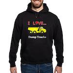 I Love Dump Trucks Hoodie (dark)