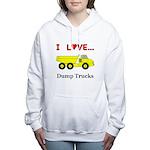I Love Dump Trucks Women's Hooded Sweatshirt