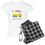 I Love Dump Trucks Women's Light Pajamas