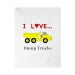 I Love Dump Trucks Twin Duvet