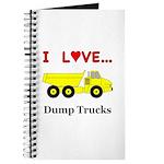 I Love Dump Trucks Journal