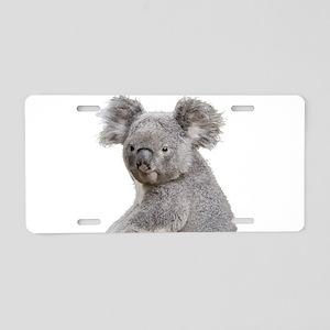 Cute Koala Bears smiling Aluminum License Plate