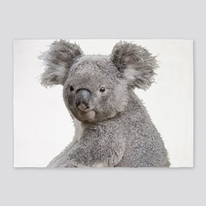 Cute Koala Bears smiling 5'x7'Area Rug