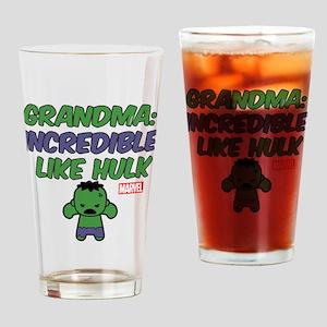 Incredible Grandma Drinking Glass