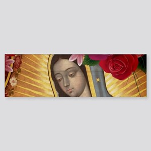 Virgin of Guadalupe with Roses Bumper Sticker