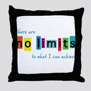 No Limits to What I Can Achieve Throw Pillow
