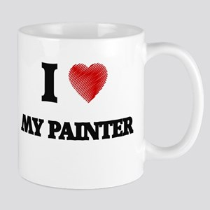 I Love My Painter Mugs