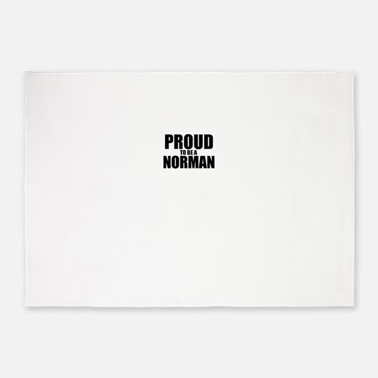 Proud to be NORMAN 5'x7'Area Rug