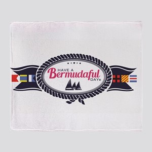 Bermudaful Throw Blanket