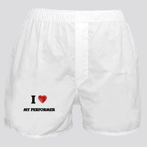 I Love My Performer Boxer Shorts