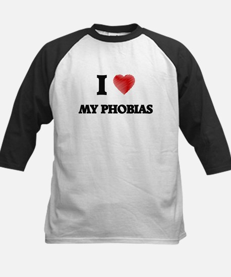 I Love My Phobias Baseball Jersey