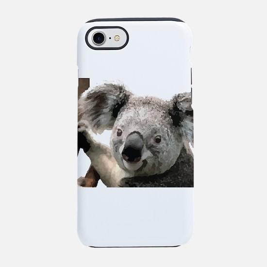 Cute Koala Bears smiling iPhone 8/7 Tough Case