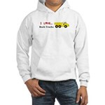 I Love Rock Trucks Hooded Sweatshirt