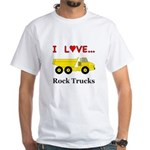 I Love Rock Trucks White T-Shirt