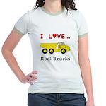 I Love Rock Trucks Jr. Ringer T-Shirt