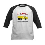I Love Rock Trucks Kids Baseball Jersey