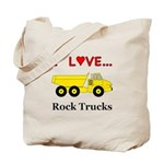 I Love Rock Trucks Tote Bag