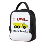 I Love Rock Trucks Neoprene Lunch Bag