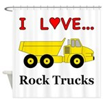 I Love Rock Trucks Shower Curtain