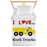 I Love Rock Trucks Twin Duvet