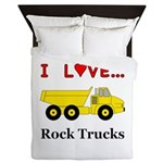 I Love Rock Trucks Queen Duvet