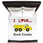 I Love Rock Trucks King Duvet
