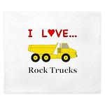 I Love Rock Trucks King Duvet